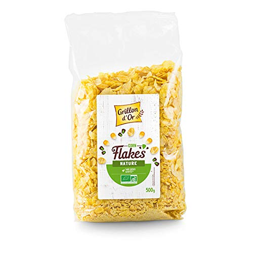 GRILLON D'OR - Corn Flakes Nature Sans Sucre 500G - Lot De 2