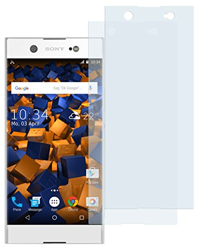 mumbi Schutzfolie kompatibel mit Sony Xperia XA1 Ultra Folie klar, Bildschirmschutzfolie (2X)