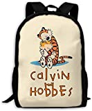 TTmom Mochilas Tipo Casual,Bolsa de Viaje Calvin and Hobbes Together Unisex Backpack Shoulder Bag School Backpack Travel Bags Laptop Backpack