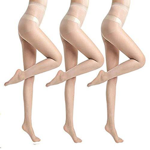 AETOSES Damen Strumpfhose Anti-Cut Ananas Strümpfe, Slim-Fit Anti-Haken Unzerbrechlich Anti-Wolf Strumpfhosen,Super Elastic Magical Strumpfhose Seidenstrümpfe Dünne Beine, (3pcs, Hautfarbe)
