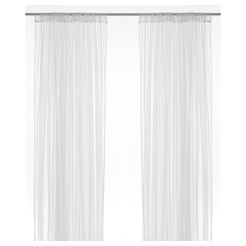 IKEA Lill - Cortinas de Red, par, Blanco