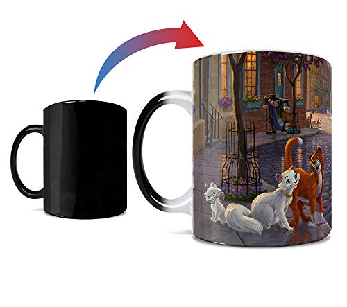 Disney - The Aristocats - One 11 oz Morphing Mugs Color Changing Heat Sensitive Ceramic Mug – Image Revealed When HOT Liquid Is Added!