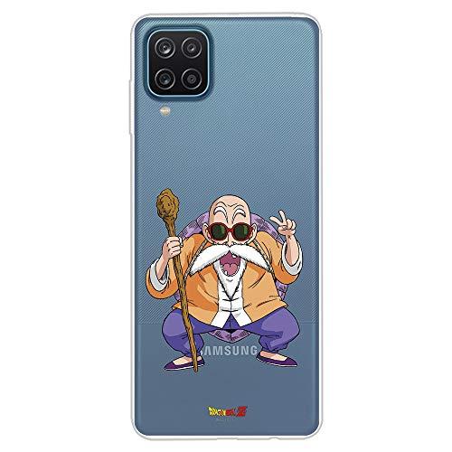 Funda para Samsung Galaxy A12 Oficial de Dragon Ball Maestro Mutenroshi. Protege tu móvil con la Carcasa para Samsung de Silicona Oficial de Dragon Ball.