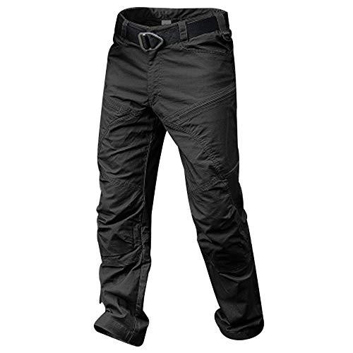 Leobtain Hombres Casual Algodón Pantalones Multi Bolsillo Transpirable Delgado Pantalones de Trabajo...