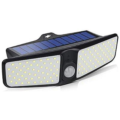 Solar Lights Outdoor Motion Sensor-VOSONX Solar Powered Security Lights, Wireless, Wall Mounted Rechargeable Flood Lights -Waterproof Outdoor Super Bright Wall Lights for Yard, Patio, Garden, Garage