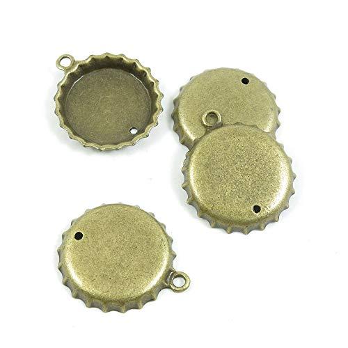 Antieke Bronzen Toon Sieraden Charms S0HX6J Bier Fles Cap Craft Art maken Crafting Kralen Antiek brons