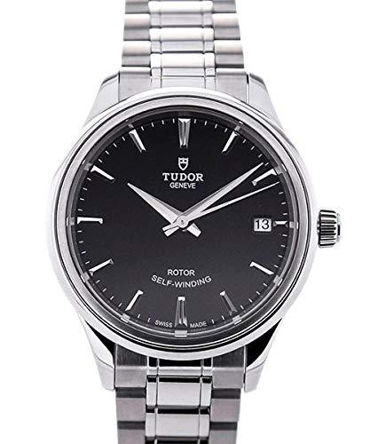 Tudor Style nero quadrante automatico mens orologio 12300–0002
