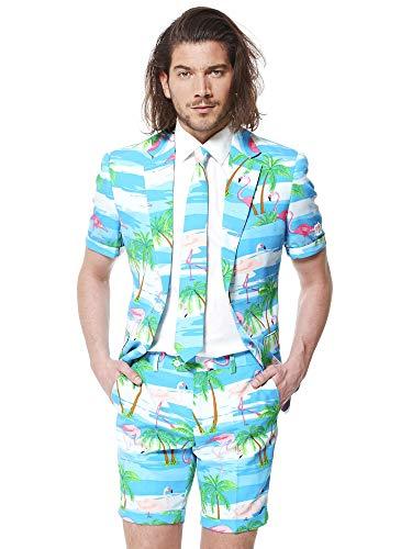 OppoSuits Herren Men Suit Business-Anzug Hosen-Set, Flaminguy, 58