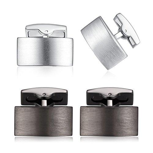 HONEY BEAR Herren Hochzeit Manschettenknöpfe Cufflinks Edelstahl Manschettenknopf (2 Paar ohne Box)