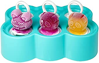 Popsicle Molds For Kids Silicone Pop Mold BPA Free Popsicle Ice Maker, Unique Cute Shape Designs, Easily-Removable, Dishwasher Safe (GREEN)
