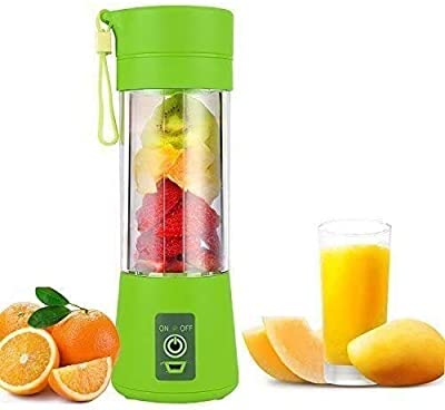 Portable Blender, Personal Blender, Small Fruit Mixer, Electric USB Rechargeable Juicer Cup, Fruit Mixing Machine Home,Travel (green)