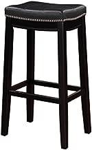 Linon Claridge Bar, Black Stool, 32