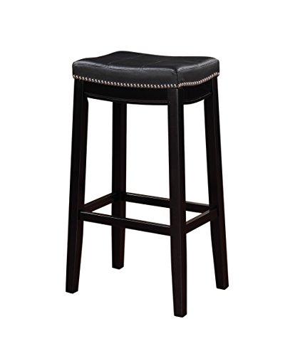 Linon Claridge Bar, Black Stool, 32' X 18.75' X 13'