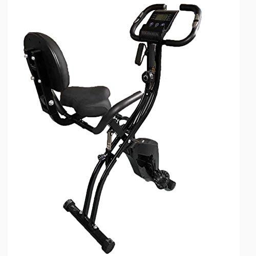 Weiyue Bicicleta de Ciclismo Bicicleta estática Plegable Interior Equipo de Entrenamiento X-Bike con Soporte para iPad&Medición frecuencia cardíaca para Entrenamiento Muscular-Negro 77 * 41 * 126cm