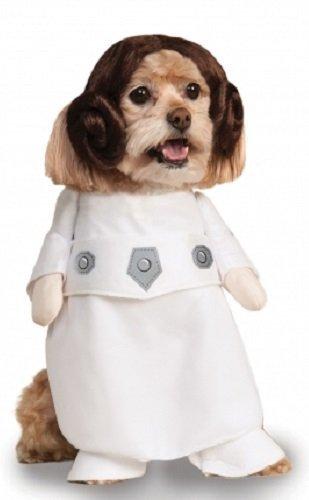 Fancy Me Haustier Hund Katze Welpe Animal Star Wars Prinzessin Leia Halloween Maskenkostüm Kleidung Outfit - S