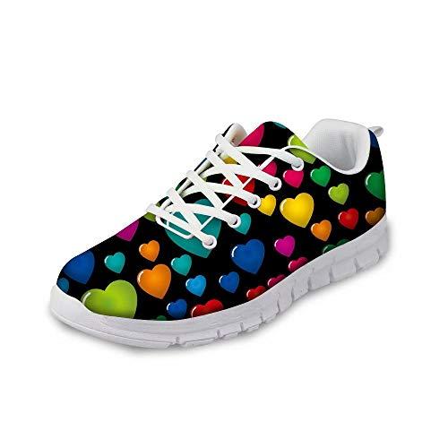 MODEGA Bunte Turnschuhe Schuhe Männer Turnschuh Bequeme Schuhe für Männer für die Arbeit Bowlingschuhe Jugend Turnschuhe für Männer Schnürsenkel für Männer Turnschuh Größe 45 EU|9.5 UK