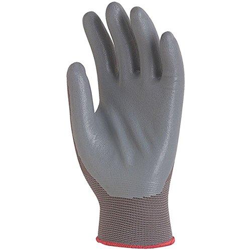 Handschuhe aus Polyamid/grauer Nitrilschaum 1 Paar Gr.9