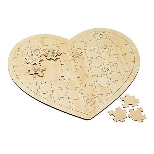 Cepewa Wunschherz Puzzle Holz Hochzeit Gästebuch Party Gästebuch Herz Hochzeit
