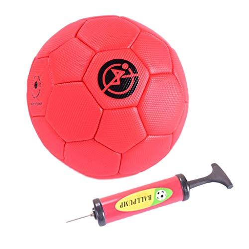 Baoblaze Fußball mit Pumpe Trainingsfußball - rot