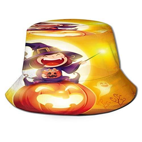 YZBEDSET Sombrero Pescador Unisex,Disfraz de nia Bruja para Halloween,Plegable Sombrero de Pesca Aire Libre Sombrero Bucket Hat para Excursionismo Cmping De Viaje Pescar