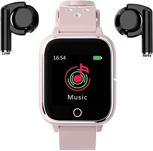 3 in 1 1,4 pollici smartwatch TWS MP3 Sport Bracciale Bluetooth Smart Watch-Rosa