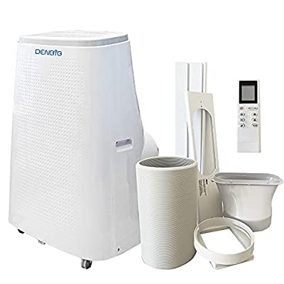 DENBIG Portable Air Conditioner 15,000 BTU 3-in-1 Air Conditioner, Dehumidifier, Cooling Fan with 3 Fan Speeds, Digital Display & Remote Control, and 24 Hour Timer for Rooms Up to 450ft