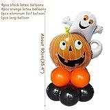 QFL Falso truco Esqueleto de Halloween Props LED brilla Tumba Tombstone calabaza de Halloween del fantasma decoración del jardín for la casa encantada de Inicio linterna calabaza divertida