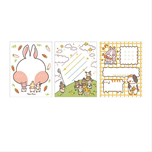 WSGYA 30pc / Lot 3 Design Cute Bunny Animal Daily to-do Check List Note Paper Notepad Sticky Note 8x10.5cm C