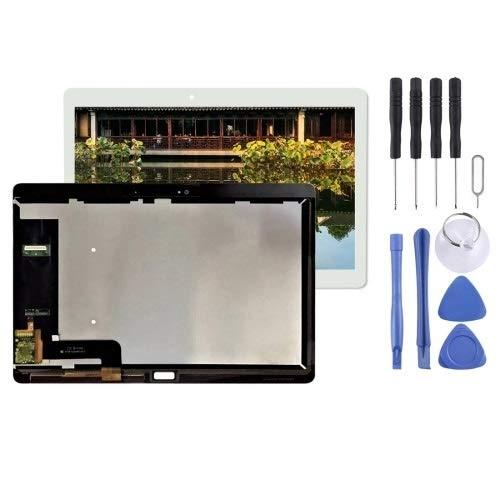un known Reemplazo Herramientas de experimentos de Prueba Pantalla LCD y Montaje Completo de digitalizador para Huawei MediaPAD M2 10.0 M2-A01L M2-A01W Accesorio (Color : White)