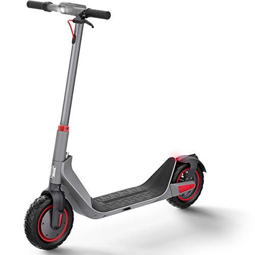 Elektro Scooter 500W Motor Elektroroller Erwachsene, Maximale Geschwindigkeit 35km/h, 35km Laufleistung, 10-Zoll Faltbarer E-Scooter mit 36V/10.4AH Batterie - G MAX (G MAX-Grau)