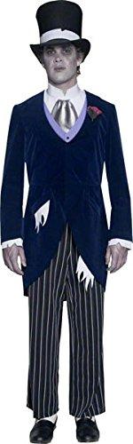 Smiffys Costume de marié du manoir gothique, avec veste, pantalon, foulard & chapeau