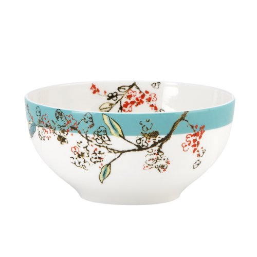 Lenox Simply Fine Chirp 4-Piece Dessert Bowl Set , White - 826044