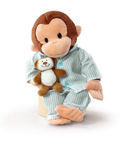Curious George with Pyjamas (Coco der neugierige Affe) ca. 30cm gross - Plüschtier, Stofftier - aus USA
