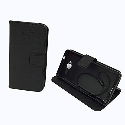 König Design Handyhülle Kompatibel mit ZTE Blade L3 Handytasche Schutzhülle Tasche Flip Hülle mit Kreditkartenfächern - Onyx Schwarz