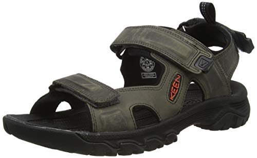 Keen Targhee 3 Open Toe, Sandale de Sport Homme, Grey/Black, 22.5 EU
