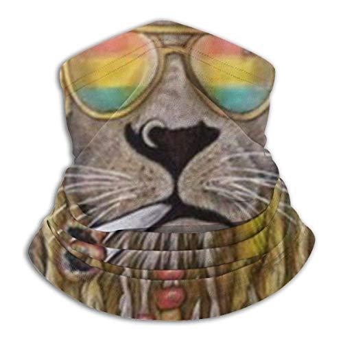 N / A Reggae Rasta Lion Love Music Calentador De Cuello Respirable Cuello Pañuelo Elástico Pasamontañas Secado Rápido Bandana para Mujer Hombre