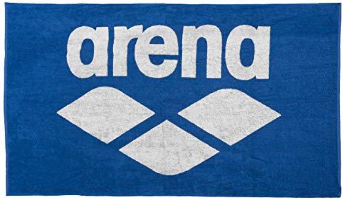 ARENA Baumwoll Handtuch Pool Soft Toalla de Mano, Unisex Adulto, Color Blanco y Azul, 150x90cm