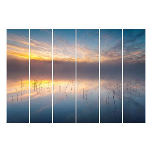 Bilderwelten Panel japonés Cortinas Sunrise Swedish Lake Sin Montaje, 250 x 360cm