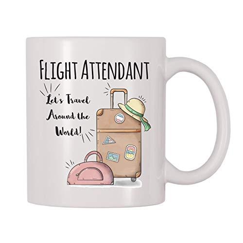 4 All Times Flight Attendant Let's Travel Around The World Coffee Mug (11 oz)