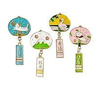 4個入 和風 ブローチピン 日本の原宿かわいい漫画猫 可愛い 猫 领针 ピンブローチ 襟ピン ラペルピン ピンバッジ ファッション アクセサリー 装飾品