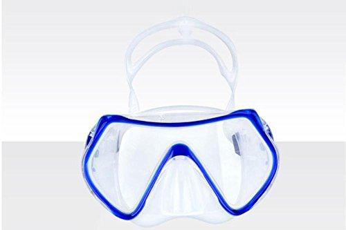 HJXJXJX Tauchbrillen Schwimmmasken Wasserversorgung Outdoor Utensilien Schnorchelausrüstung Erwachsene, Blue