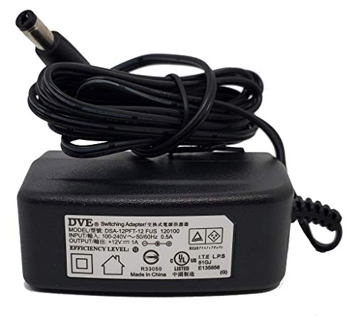 DVE 100-240VAC to 12VDC 1A Switching Adapter