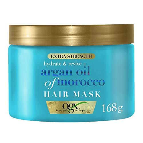 OGX, Maschera per Capelli, Olio di Argan del Marocco, per Capelli Secchi Dannegiatti o Crespi, 168 g