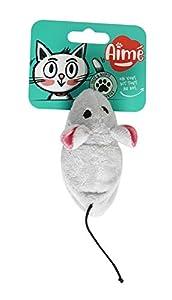 Aime - Juguete para Gato, Reversible, Peluche 2 en 1, ratón y pájaro, Juguete Divertido para Gato, Juego de Caza