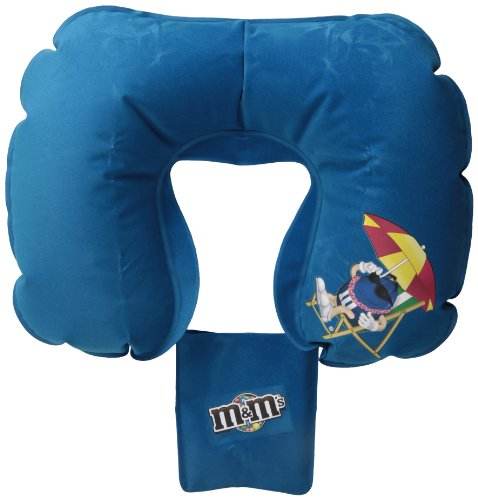 M & M 'Cuscino da viaggio con custodia, Blue (Blu) - MR6210BL