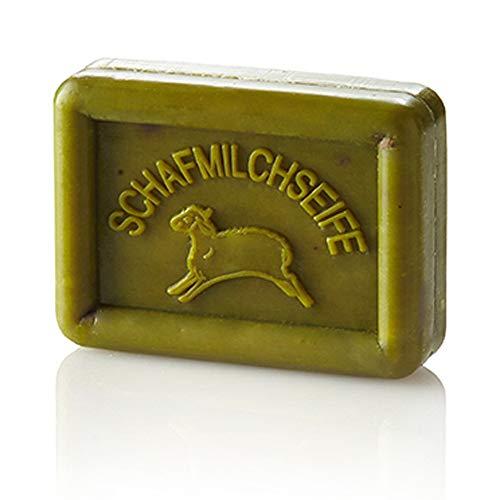 Ovis cremige Schafmilchseife Olive-grün sehr feuchtigkeitsspendend 100g