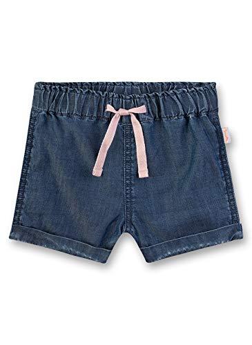Sanetta Baby-Mädchen Kurze Hose aus Webstoff Shorts, Blau (Light Blue 9552), 68 (Herstellergröße: 068)