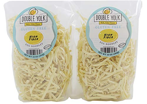 Double Yolk Gluten Free High Fiber Egg Noodles, 10 Ounce Bag (Pack of 2)