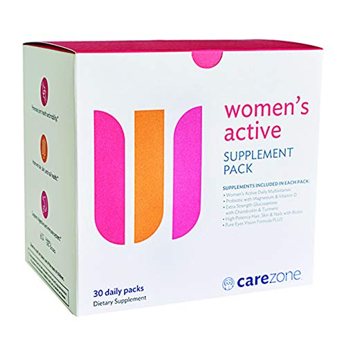 CareZone Women's Active Daily Vitamin & Supplement Packs - 30 Count