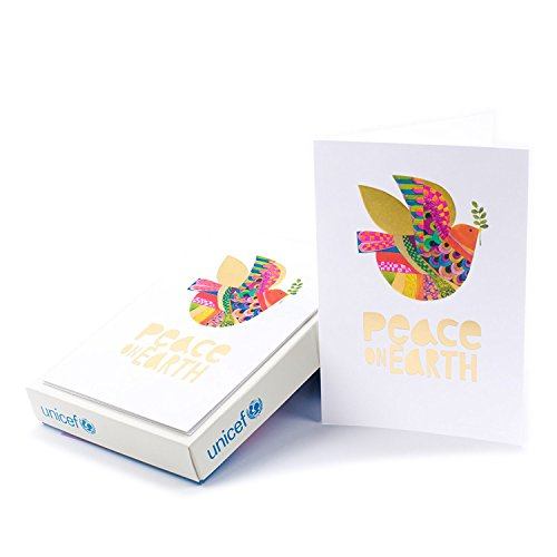 Hallmark UNICEF Boxed Christmas Cards, Peace On Earth Dove (12 Cards and 13 Envelopes)